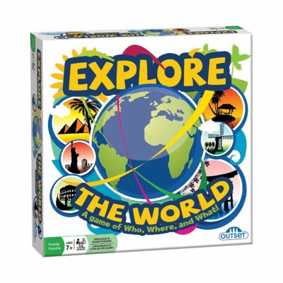 This is an image of an Explore the World board game for kids.
