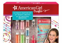 This is an image of a colorful jewelry and craft kit for kids.
