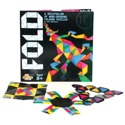 This is an image of a colorful origami puzzle for kids.