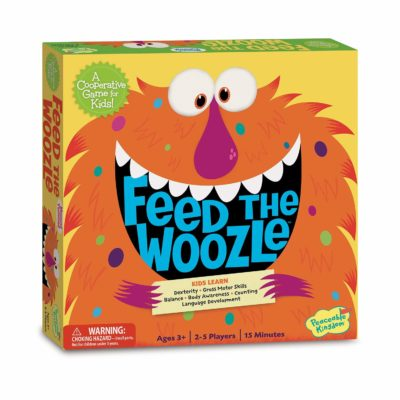 This is an image of a Feed The Woozle board game for kids.