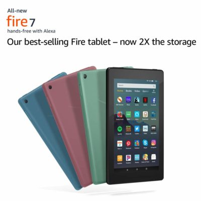 This is an image of a 7 in Fire 7 Tablet for kids.