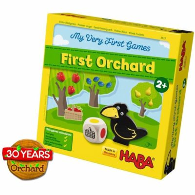 This is an image of a First Orchard board game by HABA for kids.