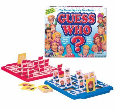 This is an image of a Guess Who? kid's board game.