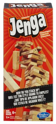 This is an image of a Jenga classic block game.