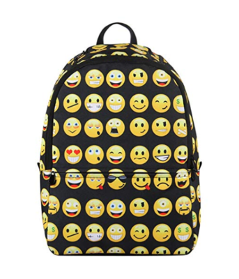 This is an image of an emoji backpack for kids.
