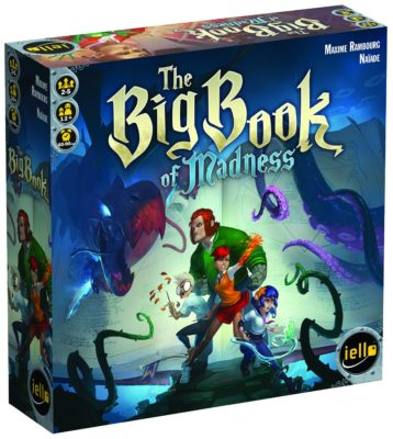 This is an image of a The Big Book of Madness deck-building game for kids.