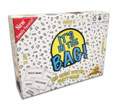 This is an image of a It's in The Bag game for the whole family.