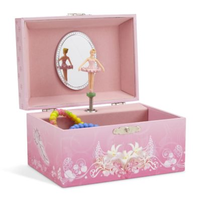 This is an image of a pink ballerina storage box.