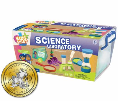 This is an image of a kid's science laboratory set.