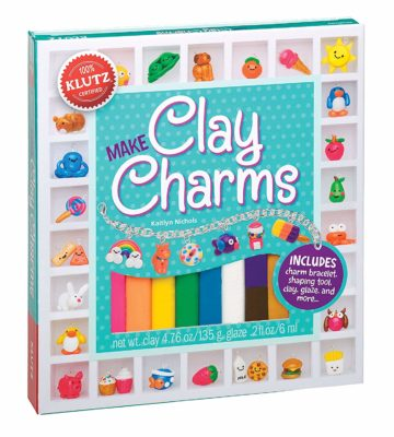 This is an image of a multicolor clay craft kit for kids.