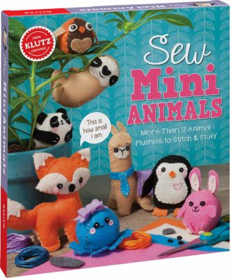 This is an image of an animal sewing kit for kids.