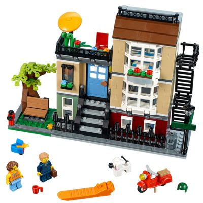 This is an image of a 3 level townhouse building kit.