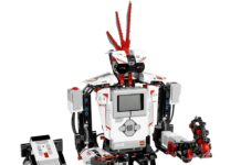 This is an image of a minstorms robot kit with remote control.