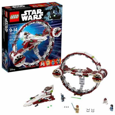 This is an image of a Star Wars Jedi Starfighter building kit.