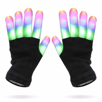 This is an image of a colorful LED gloves toy for kids.