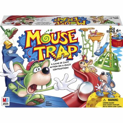 This is an image of a Mouse Trap game by Hasbro Gaming for kids.