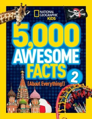 This is an image of a 5,000 Awesome Facts book for kids.
