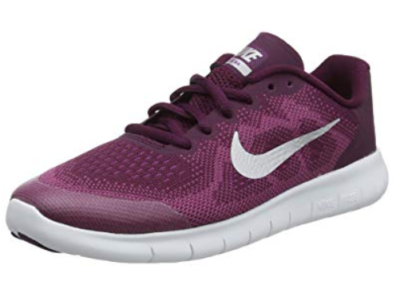This is an image of a maroon Nike shoes for kids.