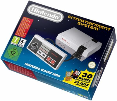 This is an image of a Nintendo classic mini console.