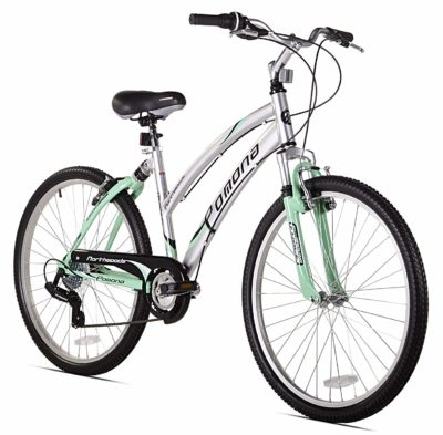 This is an image of a mint green women's bike.