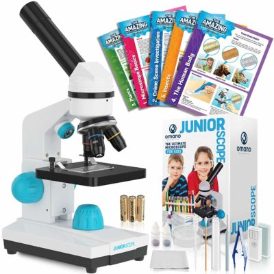 This is an image of a microscope experiment kit for kids.