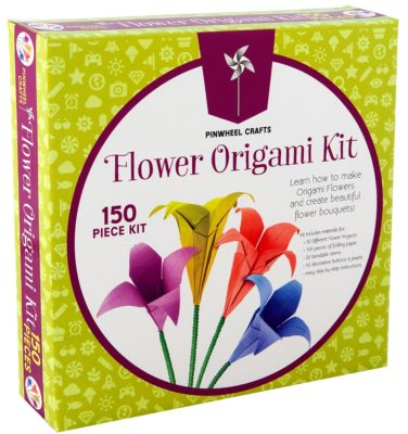 This is an image of a 150 piece origami kit.