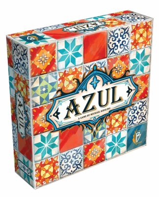 This is an image of a multicolored Azul board game.