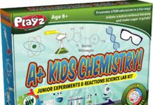 This is an image of a A+ Kids Chemistry laboratory set.