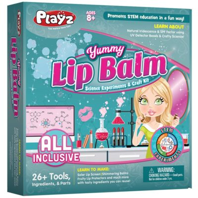 This is an image of a lip balm science, art and crafts kit.