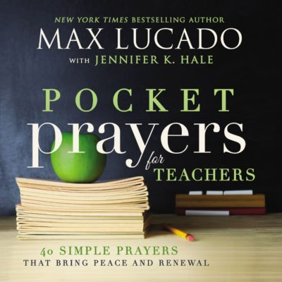 This is an image of a 40 simple prayers book for teachers.