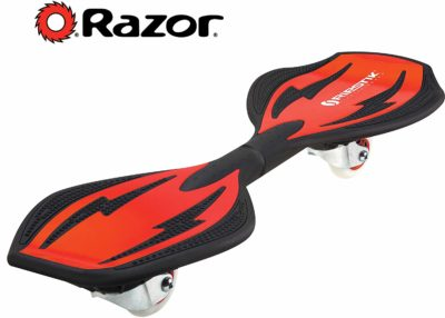 This is an image of a red caster board by Razor.