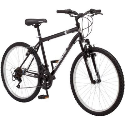 This is an image of a 26 inch black bike for men.