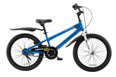 This is an image of a 20 inch blue bike for kids.