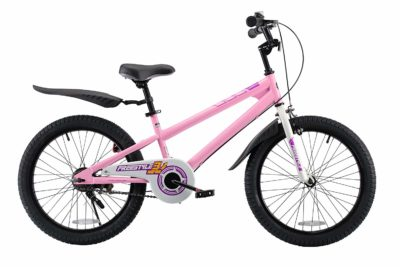 This is an image of a 12 inch pink training wheels for kids.