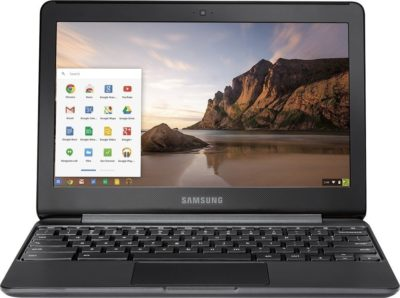 This is an image of a 11.6 inch black chromebook.
