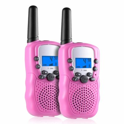This is an image of a pink walkie talkies for kids.