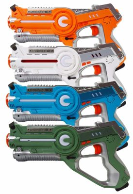 This is an image of a 4 pack laser toy gun.