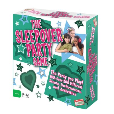 This is an image of a sleepover activity game for kids.