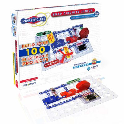 This is an image of an exploration kit by Snap Circuits designed for kids.