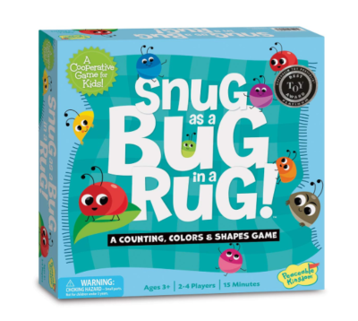 This is an image of a Snug as a Bug in a Rug by Peaceable Kingdom designed for kids.