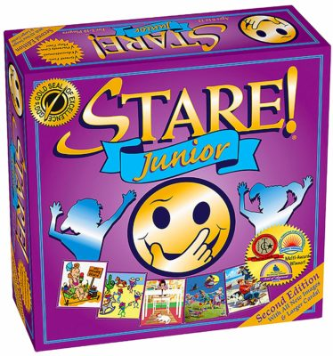 This is an image of a 2nd edition Stare! Jr. board game for kids.