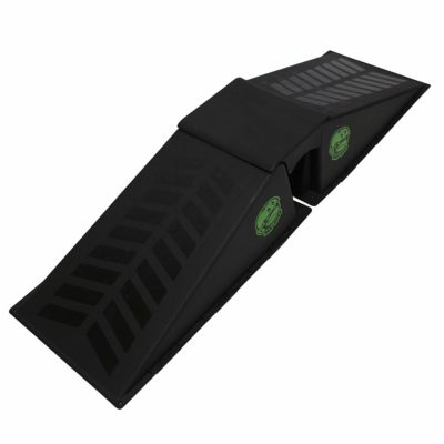This is an image of a 2 durable black launch ramps.
