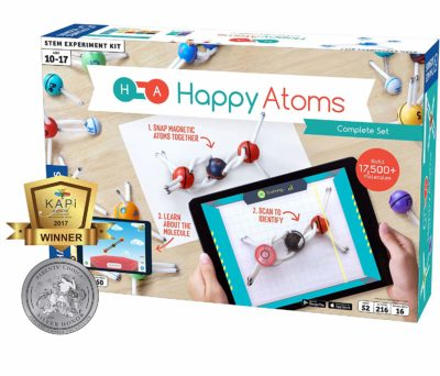 This is an image of a magnetic molecular kit for kids.