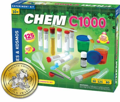 This is an image of a 125 chemistry experiment set for kids.