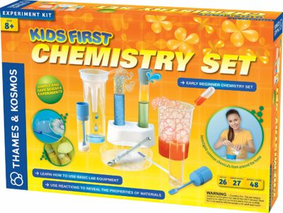 This is an image of a 48 page chemistry experiment kit.