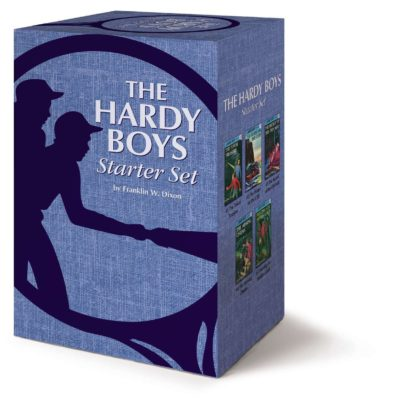 This is an image of a Hardy Boys book starter set for kids.