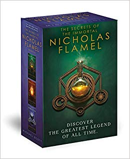 This is an image of a The Secrets of the Immortal Nicholas Flamel series boxed set.