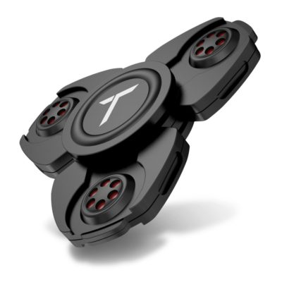 This is an image of a black fidget spinner for kids.