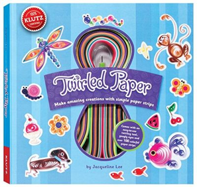 This is an image of a colorful paper strips kit for kids.