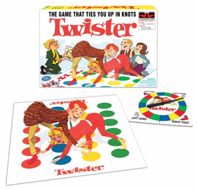 This is an image of a classic multicolor twister game.